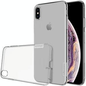 NILLKIN Nature TPU Transparent Soft Case for  iPhone XS Max  6.5 inch(Grey)