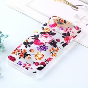 Transparent Varnish Painting Soft TPU Case For iPhone XS Max(Flowers)
