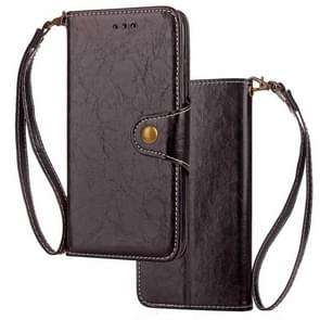 Crazy Horse Texture Retro Business Horizontal Flip Leather Case for iPhone XS Max, with Holder & Card Slots & Wallet (Black)