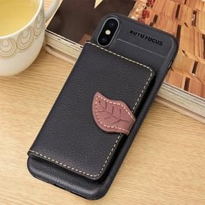 Litchi Texture PU + TPU Horizontal Flip Leather Case for iPhone XS Max, with Holder & Card Slots & Wallet & Photo Frame (Black)