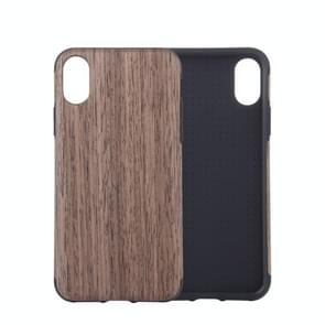 Black Rose Wood Texture TPU Case for  iPhone XS Max