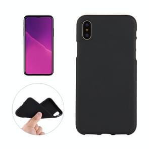 Solid Color Frosted Soft TPU Case for  iPhone XS Max (Black)