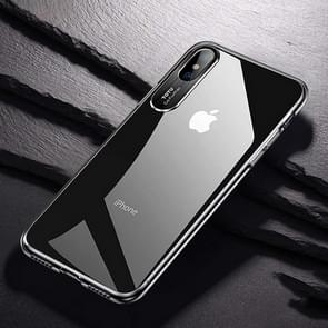 TOTUDESIGN Clear Crystal Series Transparent PC Case for  iPhone XS Max(Black)