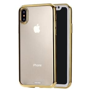 Ultra-thin Electroplating TPU Protective Case for  iPhone XS Max(Gold)