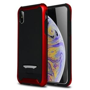 Bumblebee TPU + PC Granule Texture Protective Back Cover Case for  iPhone XS Max(Red)