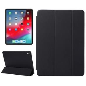 Horizontal Flip Solid Color Leather Case for iPad Pro 11 inch (2018), with Three-folding Holder & Wake-up / Sleep Function (Black)