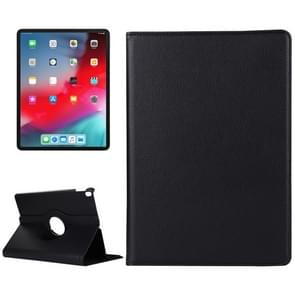 Litchi Texture Horizontal Flip 360 Degrees Rotation Leather Case for iPad Pro 11 inch (2018),with Holder (Black)