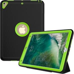 For iPad Pro 10.5 inch (2017) 3-layer Magnetic Protective Case with Smart Cover Auto-sleep & Awake Function(Light Green)