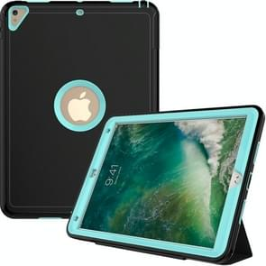 For iPad Pro 10.5 inch (2017) 3-layer Magnetic Protective Case with Smart Cover Auto-sleep & Awake Function(Mint Green)