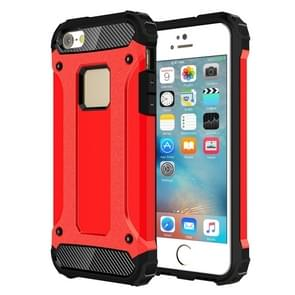 Tough Armor TPU + PC Combination Case for iPhone SE & 5 & 5s(Red)