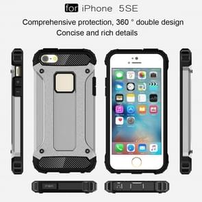 Tough Armor TPU + PC Combination Case for iPhone SE & 5 & 5s(Silver)