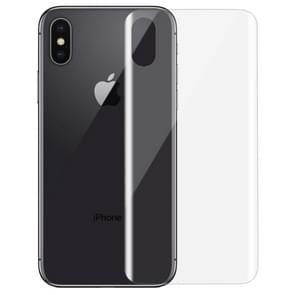 For iPhone X 0.1mm HD 3D Curved PET Back Full Screen Protector