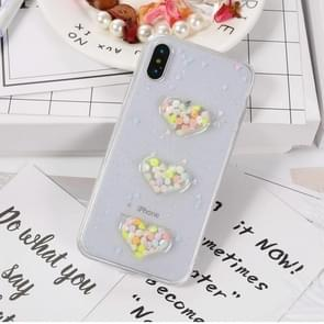 For iPhone X Fashion Candy Love Heart Pattern TPU Protective Back Cover Case