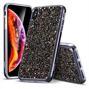 ESR Glitter Series PC + TPU Sparkly Diamond Case for iPhone XS Max(Black)