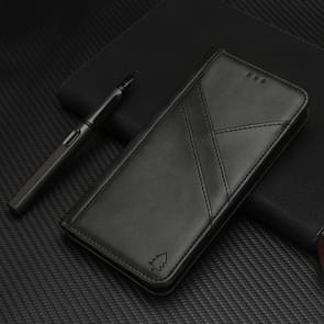 Splicing Horizontal Flip PU Leather Case for iPhone XS Max, with Holder & Card Slots & Wallet & Photo Frame(Black)