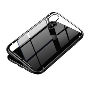 Baseus Metallic Frame + Temperped Glass Rear Cover Magnetic Care for iPhone XS Max(Black)