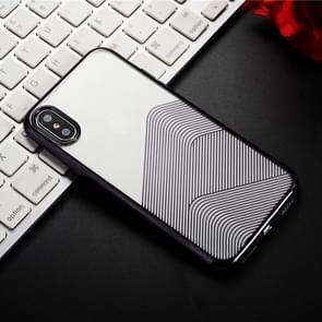SULADA Nano Plating + 3D Radium Carving TPU Soft Case for iPhone XS Max (Black)