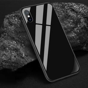 SULADA Shockproof Aviation Aluminum Metal Frame + Nano Glass + TPU Case for iPhone XS Max(Black)