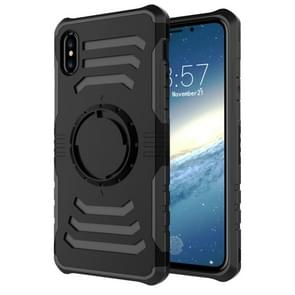 Sharp Sword Pattern Case for iPhone XS Max, with Armlet (Black)