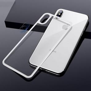 TOTUDESIGN Rhino Family Tempered Glass Camera Lens + Back Protective Film Set for iPhone XS Max (White)