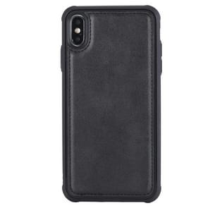 Magnetic Shockproof TPU + PC + PU Leather Pasted Case for iPhone XS Max (Black)