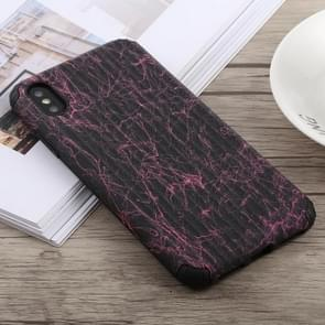 Travel Box Shape Painted Marble Protective TPU + PC Case for iPhone XS Max (Black Red)