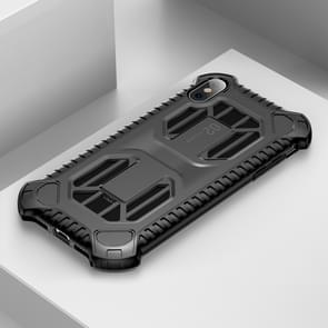 Baseus Cold Front Cooling A Mecha with Double Engine Heat Dissipating Shockproof PC+TPU Case for iPhone XS Max(Black)