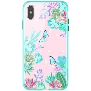 NILLKIN Butterfly Pattern Glass Protection Case for iPhone XS Max