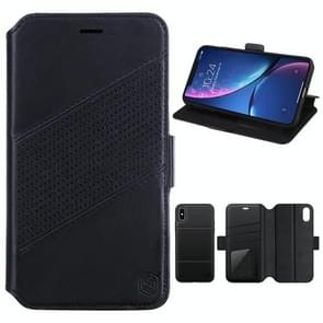 NILLKIN Detachable Horizontal Flip Leather Case for iPhone XS Max, with Holder & Card Slots & Wallet (Black)