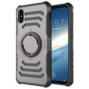 Sharp Sword Pattern Case for iPhone XR, with Armlet(Grey)