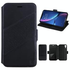 NILLKIN Detachable Horizontal Flip Leather Case for iPhone XR, with Holder & Card Slots & Wallet (Black)