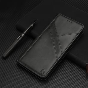 Splicing Horizontal Flip PU Leather Case for iPhone XR, with Holder & Card Slots & Wallet & Photo Frame(Black)