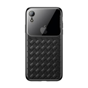Baseus Weave Style Ultra-thin TPU Glass Case for iPhone XR(Black)