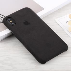 Suede PC Protective Back Cover Case for iPhone XR(Black)