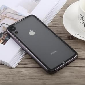 TOTUDESIGN Style Series Electroplating Transparent TPU + PC Case for iPhone XR (Grey)