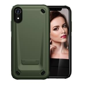 Ultra-thin TPU+PC Mechanic Shockproof Protective Case for  iPhone XR(Army Green)