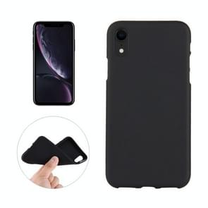 Solid Color Frosted Soft TPU Case For  iPhone XR (Black)