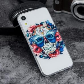 The Masked Ghost Pattern Highly Transparent Soft TPU Protective Case for iPhone XR