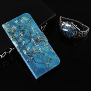 Colored Drawing Pattern Horizontal Flip Leather Case with Holder & Card Slots & Wallet For  iPhone XR ( Apricot Tree)