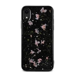 Floral Pattern Soft Case For  iPhone XR  6.1 inch(Black+Pink)