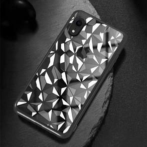 Diamond Texture Electroplating TPU Case For  iPhone XR  6.1 inch(Black)