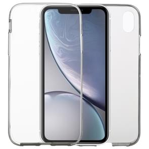 Ultra-thin Double-sided Full Coverage Transparent TPU Case for iPhone XR (Grey)