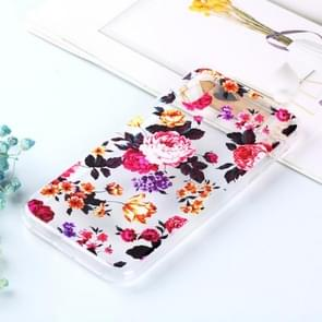 Transparent Varnish Painting Soft TPU Case For iPhone XR(Flowers)
