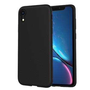 lenuo Leshen Series Stripe Texture TPU Case for iPhone XR (Black)