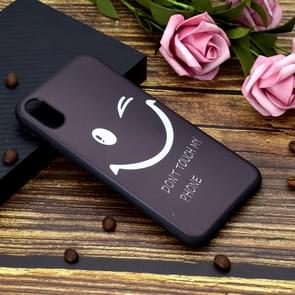 Painted Soft TPU Protective Case For iPhone XR(Smiling Face)