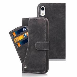 Frosted TPU Horizontal Flip Leather Case for iPhone XR, with Holder & Card Slots & Wallet & Photo Frame(Black)