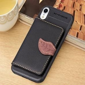 Litchi Texture PU + TPU Horizontal Flip Leather Case for iPhone XR, with Holder & Card Slots & Wallet & Photo Frame (Black)