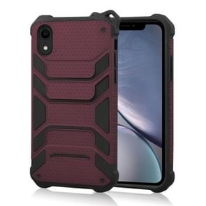 Shockproof PC + TPU Spider-Man Armor Protective Case for iPhone XR (Dark Red)