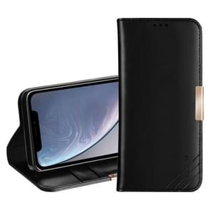 DZGOGO ROYALE II Series Magnetic Horizontal Flip Genuine Leather Case for iPhone XR with Card Slots & Holder (Black)