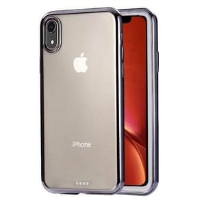 Ultra-thin Electroplating TPU Protective Case for  iPhone XR(Black)